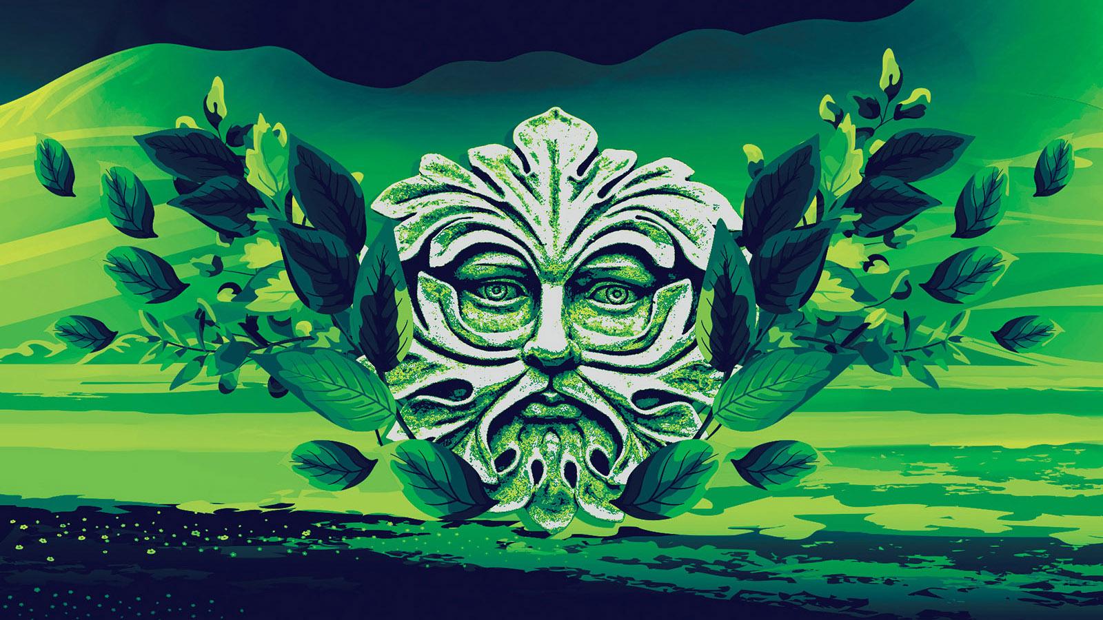 Green man background